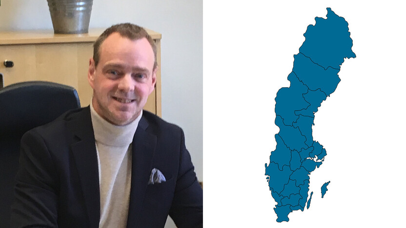 contact person, sales management, profile and map, mikael danhov, SE