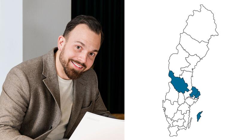 contact person, sales representative, profile and map, jonny sylven, jonny sylvén, SE