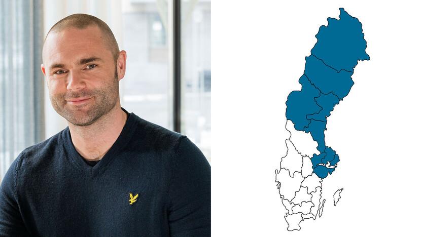 contact person, sales representative, profile and map,niklas alterlund, SE